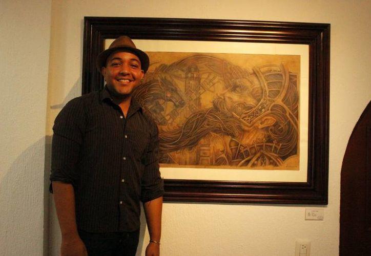 El antillano dijo que disfruta mucho de su labor artística. (Andrea Aponte/SIPSE)