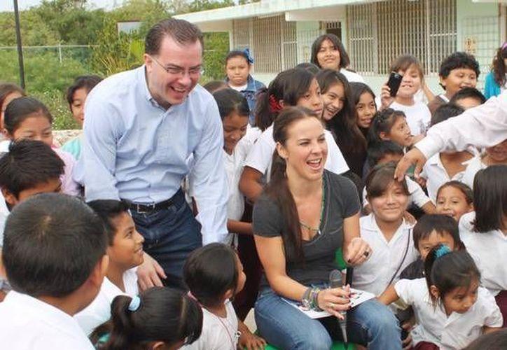 Kate del Castillo durante sus actividades en Mérida. (Cortesía)