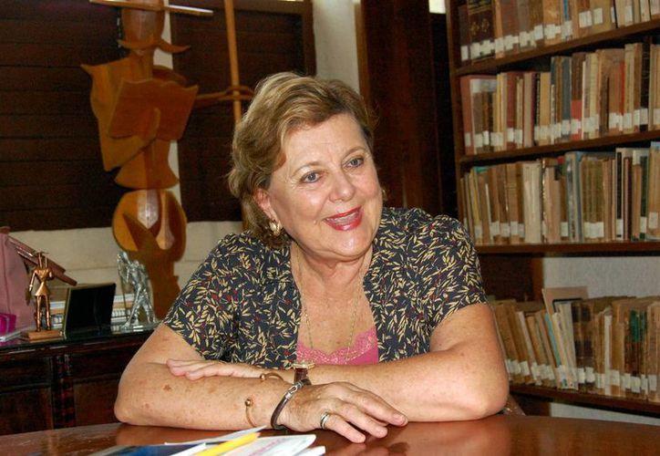 Margarita Díaz Rubio, pese a que las letras las traía de familia, escribió su primer libro a los 50 años. (Milenio Novedades)