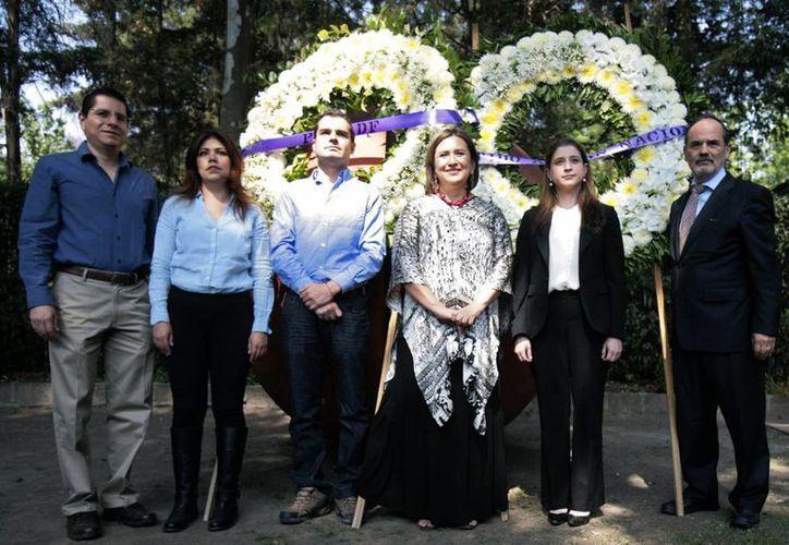 El PAN rindió homenaje a Juan Molinar Horcasitas quien fuera secretario de Comunicaciones y Transportes. (Notimex)