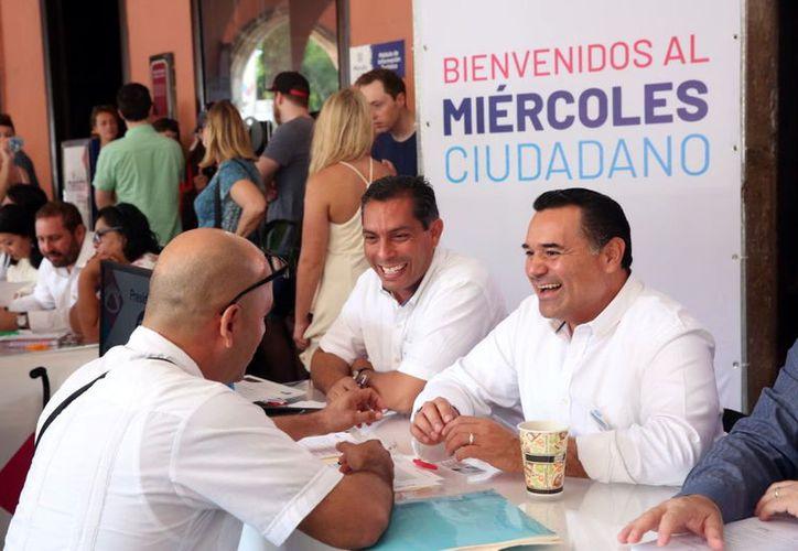 El alcalde Renán Barrera Concha mencionó que existe un compromiso de su administración con el trabajo para erradicar la violencia de género.