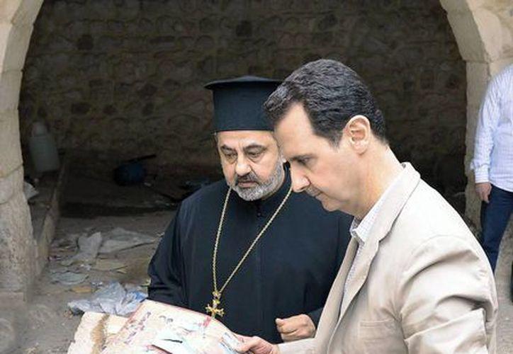 En la población de Malula, visitada el domingo por Bashar al Asad, aún se habla el arameo, la lengua que habló Jesucristo. (EFE)