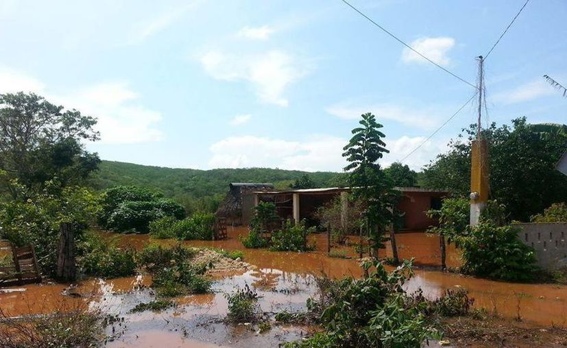 Imagen de las inundaciones en el Cono Sur de Yucatán. (SIPSE)