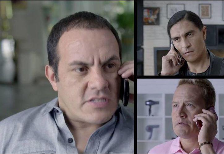 Blanco, Palencia y Hernández festejan como cuando eran seleccionados. (Captura de pantalla/Youtube)