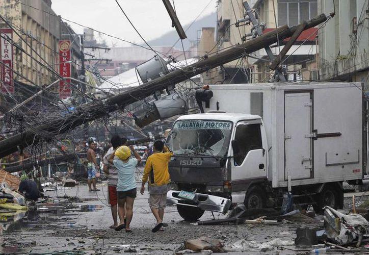 El poderoso tifón Haiyan dejó una estela de destrucción a su paso por Filipinas en noviembre pasado. (Archivo/Agencias)
