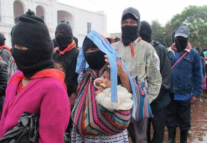 """El 21 de diciembre último, el movimiento zapatista anuncio su """"resurgimiento"""". (Archivo/Notimex)"""
