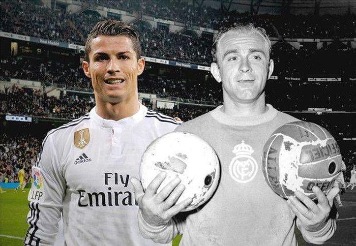 Los únicos de entre los mejores goleadores en la historia del Real Madrid que pudieron mantener un alto nivel pasados los 32 años han sido hasta ahora Puskas y Di Stefano (d). Cristiano Ronaldo (i) seguramente tratará de emularlos. (goal.com)