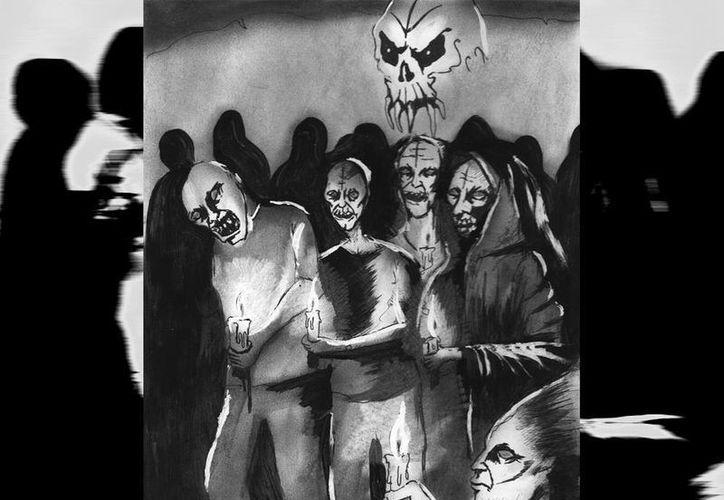 Afirman que por hacer el mal, el hmen Felipe se fue al infierno, rodeado de seres malignos que lo atormentan. (Jorge Moreno/SIPSE)