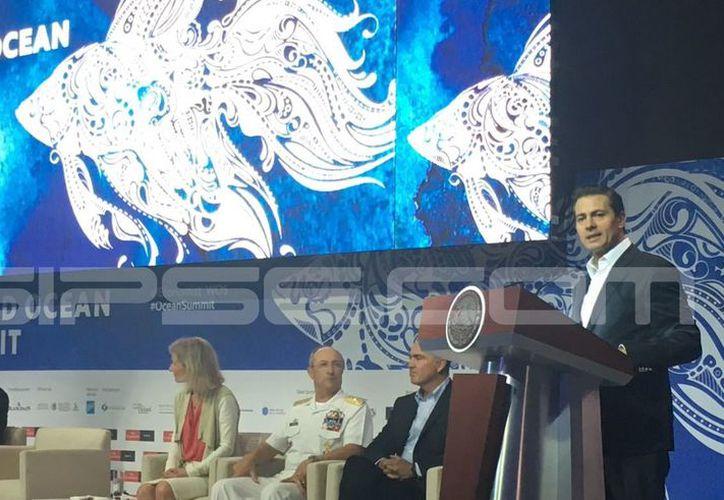 Enrique Peña Nieto destacó la importancia de las actividades marinas para el progreso del país. (Foto: Redacción/SIPSE)