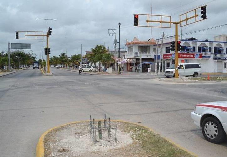 Mejorarán la imagen del crucero que forman las avenidas Tulum y Satélite. (Cortesía/SIPSE)