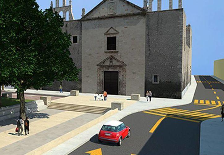 Imagen de la propuesta de rehabilitación urbana de la zona del parque de ese rumbo, a través de acciones como el reordenamiento vial, la peatonalización, la potenciación de la arquitectura patrimonial y la generación de un estacionamiento descongestionante. (Milenio Novedades)