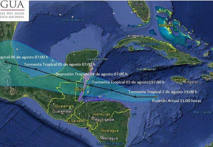 Ante su posible evolución se mantendrá bajo vigilancia. (Comisión Nacional del Agua (Conagua)