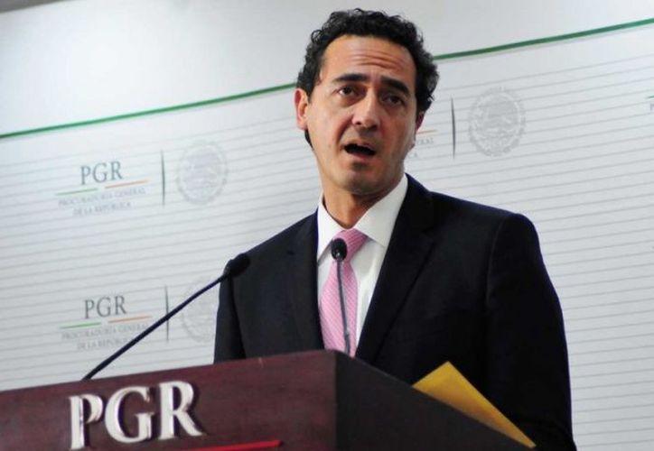 Subprocurador Jurídico y de Asuntos Internacionales de la PGR, Alberto Elías Beltrán. (Cuarto Oscuro)