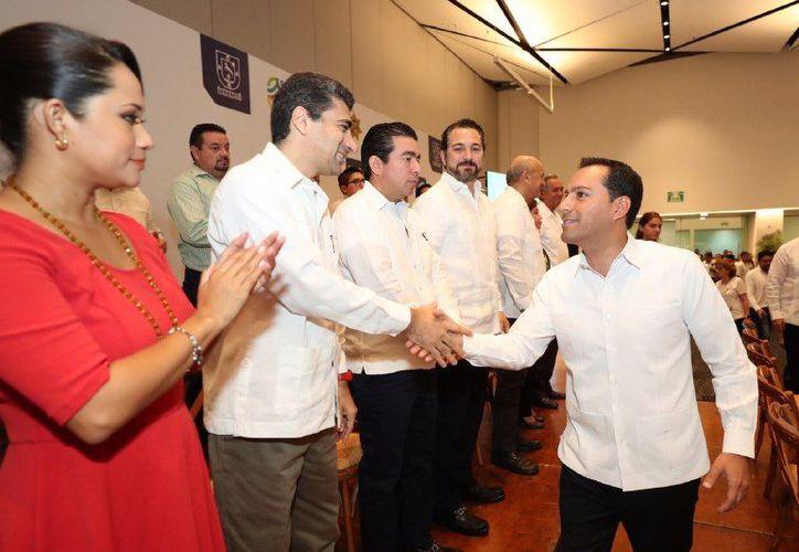 Los representantes de la iniciativa privada refrendaron su apoyo a la administración estatal en el tema de seguridad. (Novedades Yucatán)