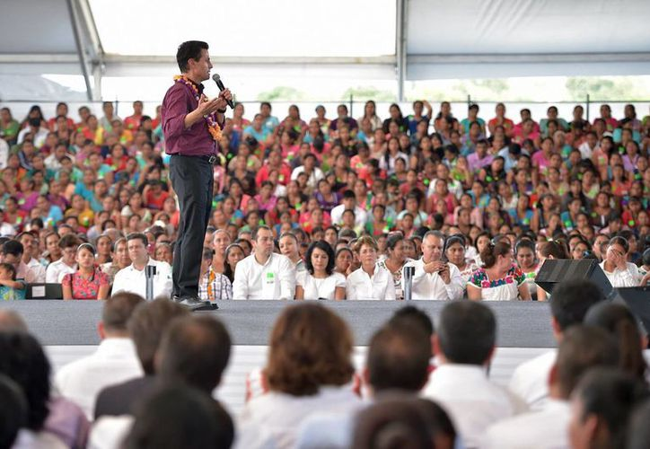 Desde Hidalgo, Peña Nieto aseguró que ejercerá la soberanía de la Nación. (Notimex)