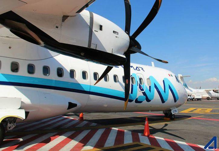 Los aviones son modelo ATR-42, propulsado por dos motores turbohélice, con capacidad aproximada de 42 a 50 pasajeros. (Foto: David de la Fuente / SIPSE)