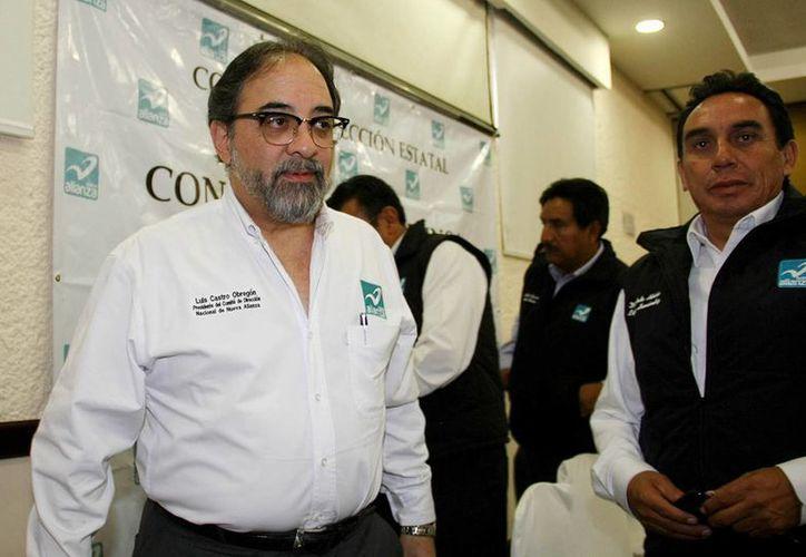 El presidente nacional de Nueva Alianza, Luis Castro Obregón. (Archivo/Notimex)