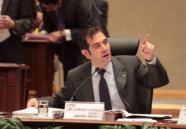 Lorenzo Córdoba aseguró que el INE procura 'permanentemente' la equidad en los procesos electorales. (Notimex)