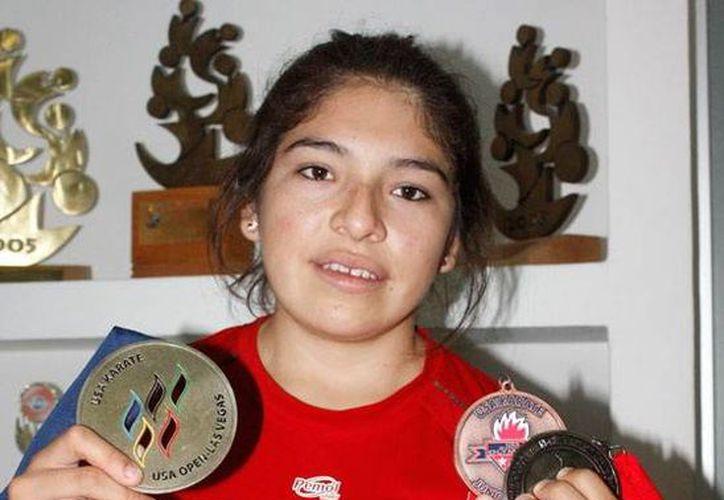 Entre los karatecas que asistirán al campamento se encuentra Guadalupe Quintan Catzín. (Milenio Novedades)