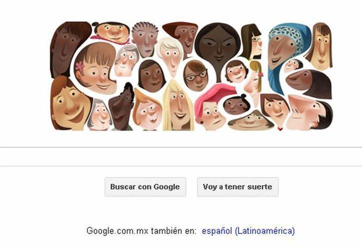 Captura de pantalla de la portada de Google.