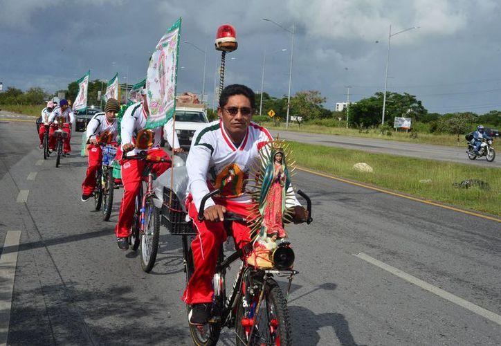 A partir de este jueves comenzarán a llegar masivamente las peregrinaciones al santuario guadalupano del barrio de San Cristóbal en Mérida. (Luis Pérez/SIPSE)