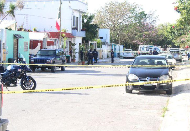 El asesinato se cometió frente a la casa de la víctima. (Redacción/SIPSE)