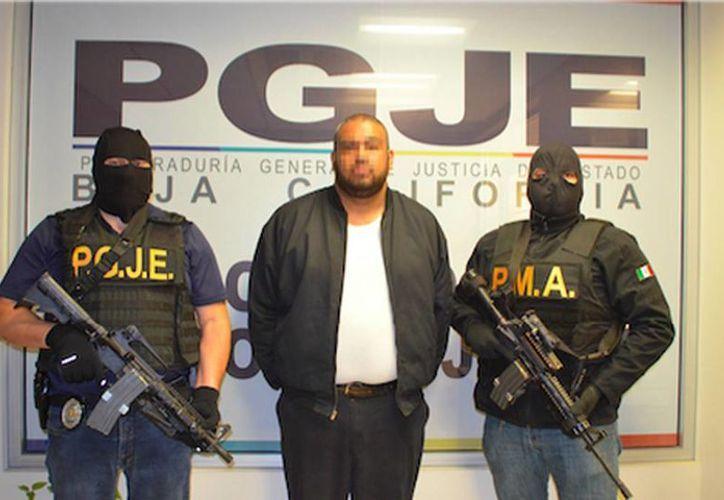 David Ignacio, alias 'El Chino' o 'El Travieso', quien era cabecilla de una banda de secuestradores que operaba en Tijuana. (Milenio Digital)