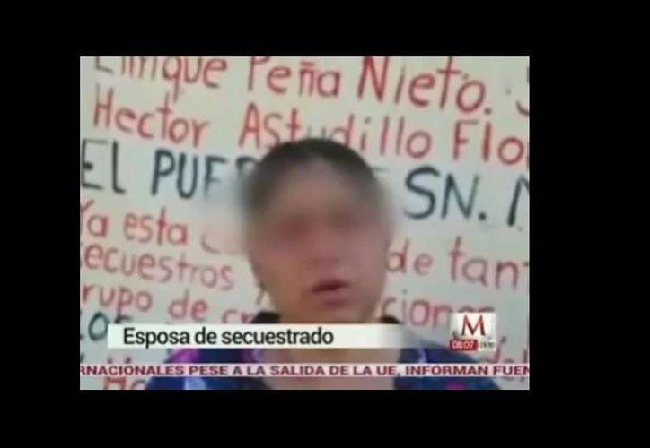 En un video la esposa de Isauro de Paz Duque dijo que a su marido se lo llevaron el domingo pasado a las 17:30 horas. (Captura de pantalla/Milenio)