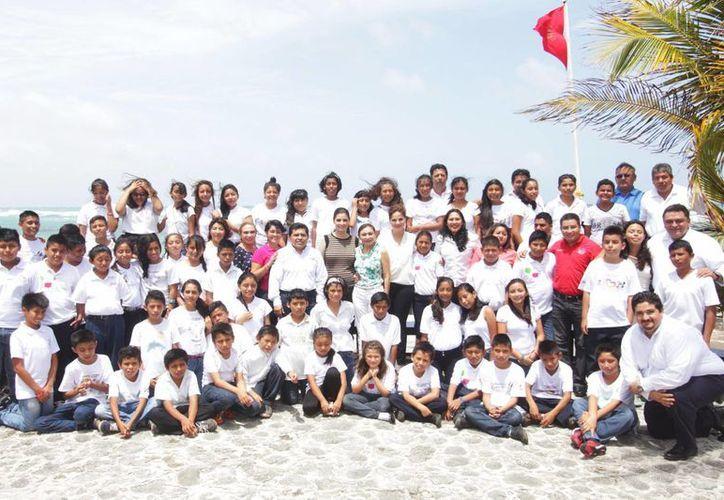 Fueron 50 niños los que participaron en el Segundo Encuentro de la Red de Difusores Infantiles del estado. (Redacción/SIPSE)