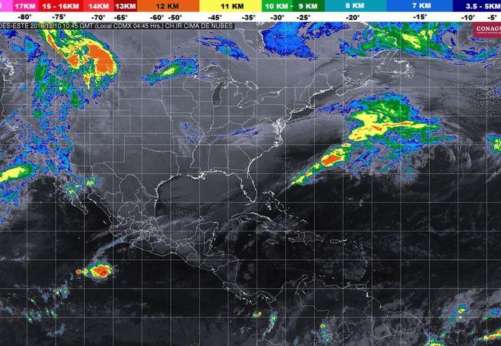 Los vientos serán de 15 a 30 kilómetros por hora en Playa del Carmen. (Conagua)
