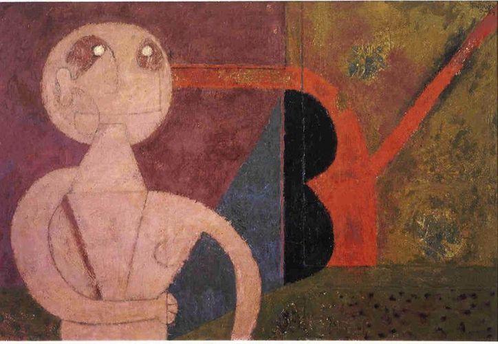 'La familia' de Rufino Tamayo y 'El balcón' de Diego Rivera formarán parte de una subasta de Sotheby's. En la foto, 'El Hombre y su sombra', de Tamayo. (latinamericanart.com)