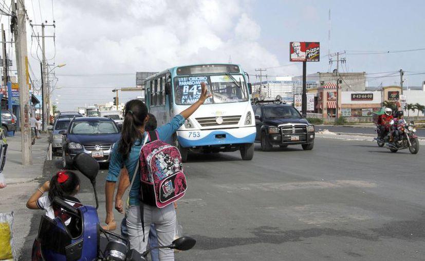 Revisarán si efectivamente las cuatro concesionarias del transporte urbano están cumpliendo con los descuentos. (Tomás Álvarez/SIPSE)