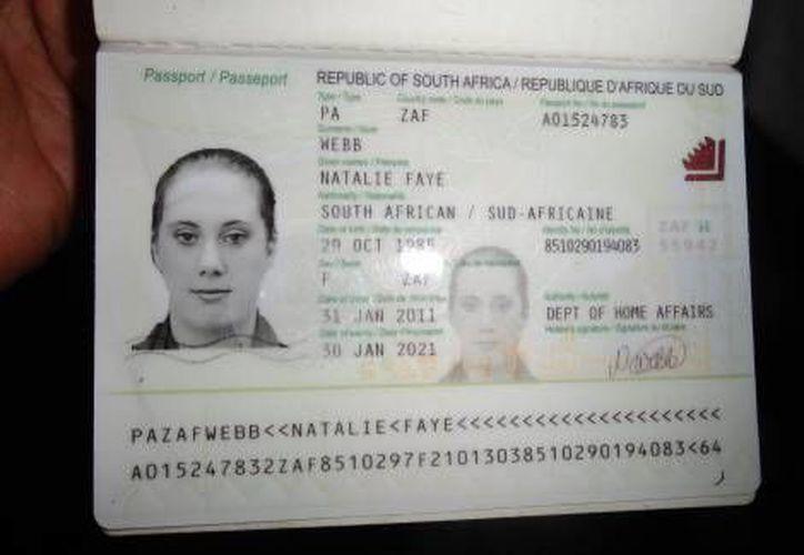 Foto del pasaporte de Samantha Lewthwaite, facilitado por la policía keniana en diciembre de 2011. (AFP/Milenio)