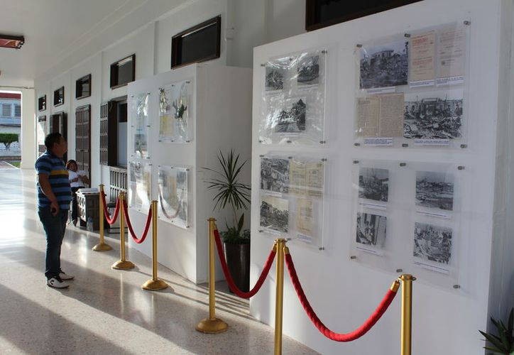 """Por tal motivo se expone """"Chetumal y el Huracán Janet: a 62 años del trayecto que cambió nuestra historia"""" en el Palacio de Gobierno. (Joel Zamora/SIPSE)"""