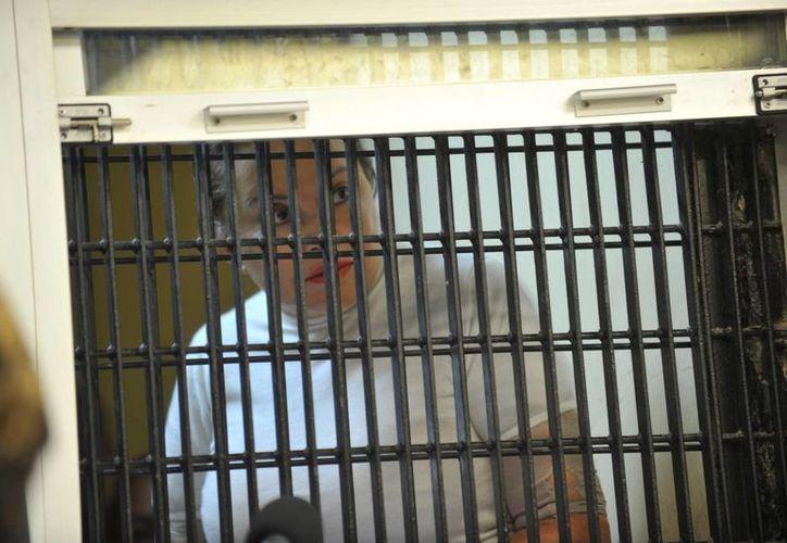 Elba Esther Gordillo al comparecer ante el juez de la causa el pasado miércoles. (Notimex)
