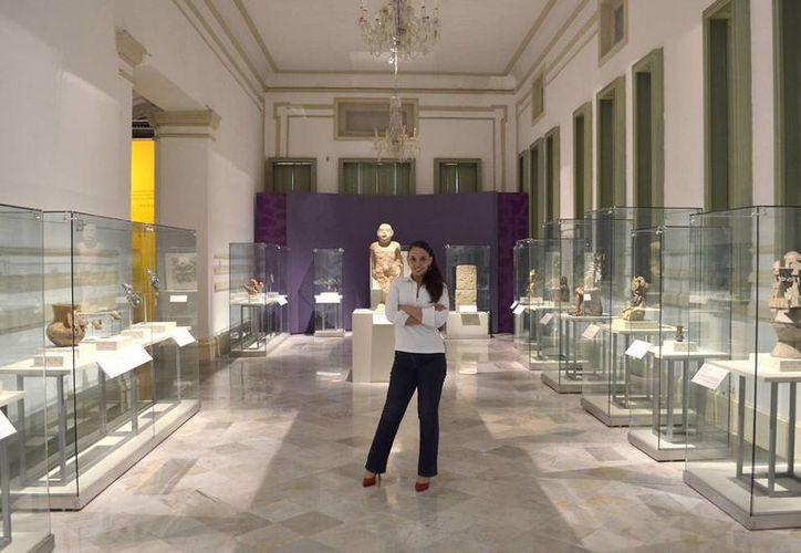 Giovana Jaspersen García, directora del Palacio Cantón,  recinto que presenta una de las muestras más importantes a nivel nacional: Máscaras Mexicanas. (Milenio Novedades)