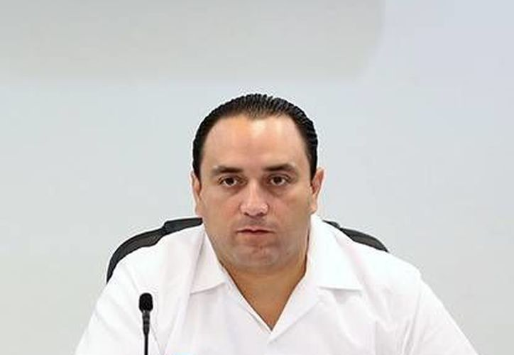 El gobernador de Quintana Roo, Roberto Borge Angulo, durante su participación en la puesta en marcha del Operativo Peninsular Coordinado de Seguridad. (Milenio Novedades)