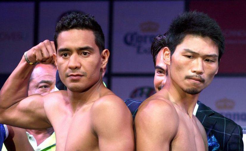 'Yeyo' Thompson y Takashi Miura detuvieron al fiel de la balanza en 58.700 kg. (Notimex)