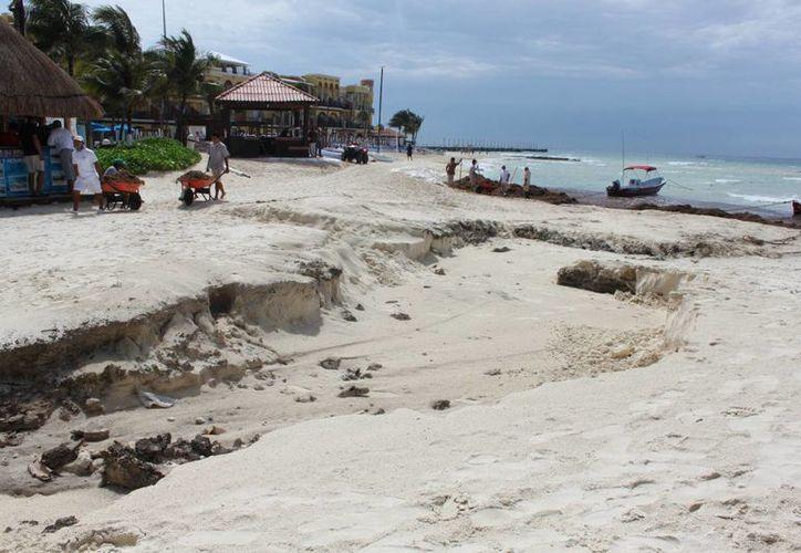 Se necesita un programa para evitar la pérdida de arena. (Adrián Barreto/SIPSE)