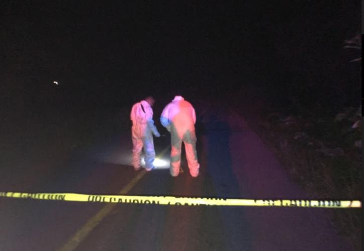 Dos jóvenes fallecieron en un accidente carretrero ayer, en Bacalar. (Javier Ortiz/SIPSE)