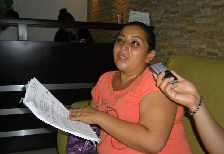 Mabis Mabel Castillo, abogada que lleva el caso del presunto agraviado Gilberto Dzul Sansores. (Harold Alcocer/SIPSE)
