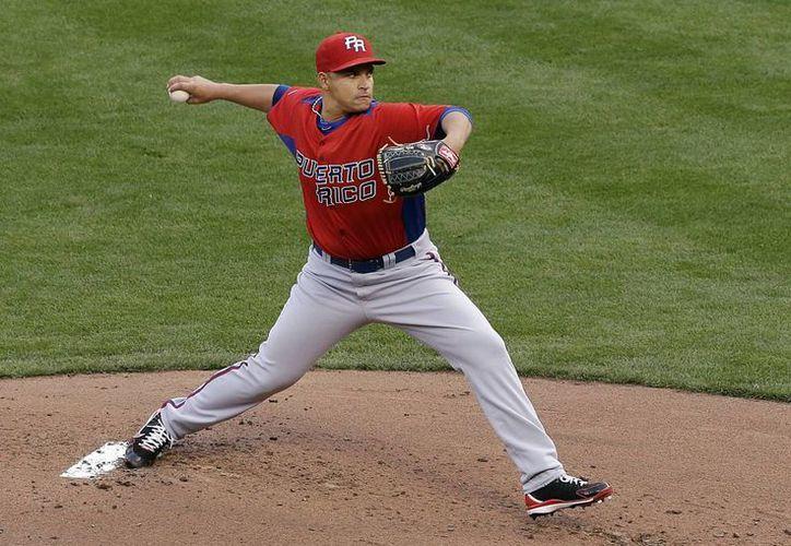 El pitcher puertorriqeño Mario Santiago hizo una auténtica faena hasta la quinta entrada. (Agencias)
