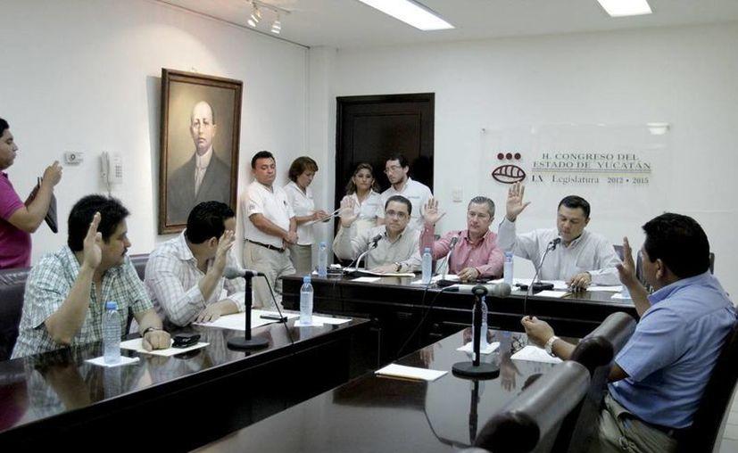 Los legisladores integrantes de la Comisión de Justicia del Congreso. (Milenio Novedades)