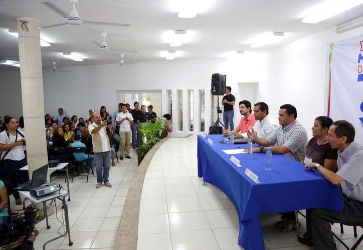 El Ayuntamiento de Mérida presentó los avances del Diagnóstico de Participación Ciudadana que no es otra cosa que una lista de obras que se realizaron en las colonias y comisarías que para que las que estén pendientes pueda continuarlas la nueva administración. (Cortesía)