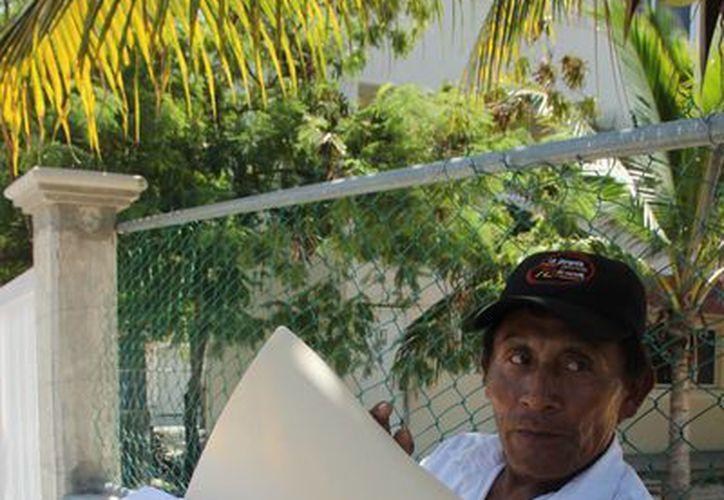 Casimiro Caamal Choc denunció que fue víctima de un intento de homicidio que terminó en graves lesiones. (Rossy López/SIPSE)