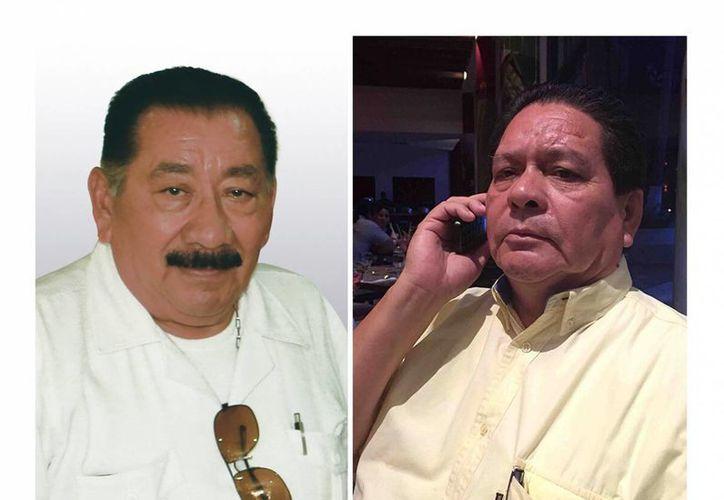 Fotografías sin fechar de José Joaquín Pérez Morales (d) y Aurelio Hernández Herrera (i). Los dos periodistas fueron encontrados muertos en un hotel de Villahermosa, Tabasco, sin que hasta el momento se haya identificado las causas del deceso y el móvil del crimen. (EFE)