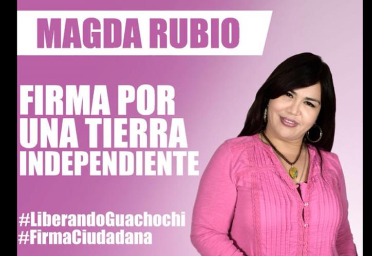 Magda Rubio denunció amenazas de muerte. (Redes sociales)