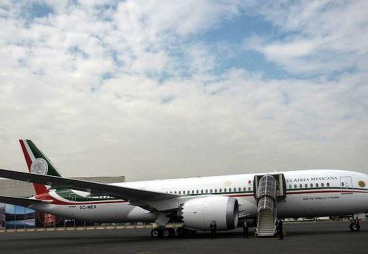 El avión presidencial TP-01 aterrizó a las 21:12 hora local, 08:12 hora de la Ciudad de México, luego de un vuelo de casi 18 horas. (Archivo/Notimex)