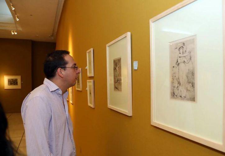 La exposición está compuesta por grabados, aguafuertes y poemas. (SIPSE)