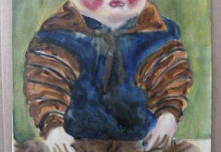 """""""Child at the Table"""" de Otto Griebel es sólo una de las 1,400 piezas recuperadas. (Agencias)"""